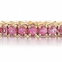Pink Sapphire Eternity Band