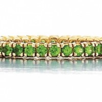 18k Yellow Gold Tsavorite Eternity Band