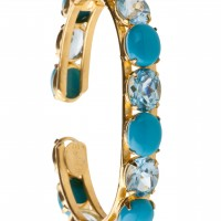 Blue Topaz and Turquoise Bangle