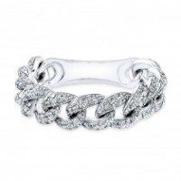 Diamond Flexible Link Ring
