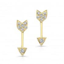 Diamond Pave Arrow Studs