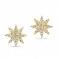 Diamond Starburst Studs
