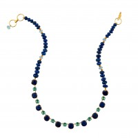 Lapis and Blue Topaz Necklace