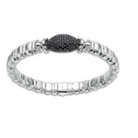 Sterling Silver and Black Spinel Cuff
