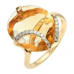 Yellow_Gold_Citrine_and_Diamond_Ring_1