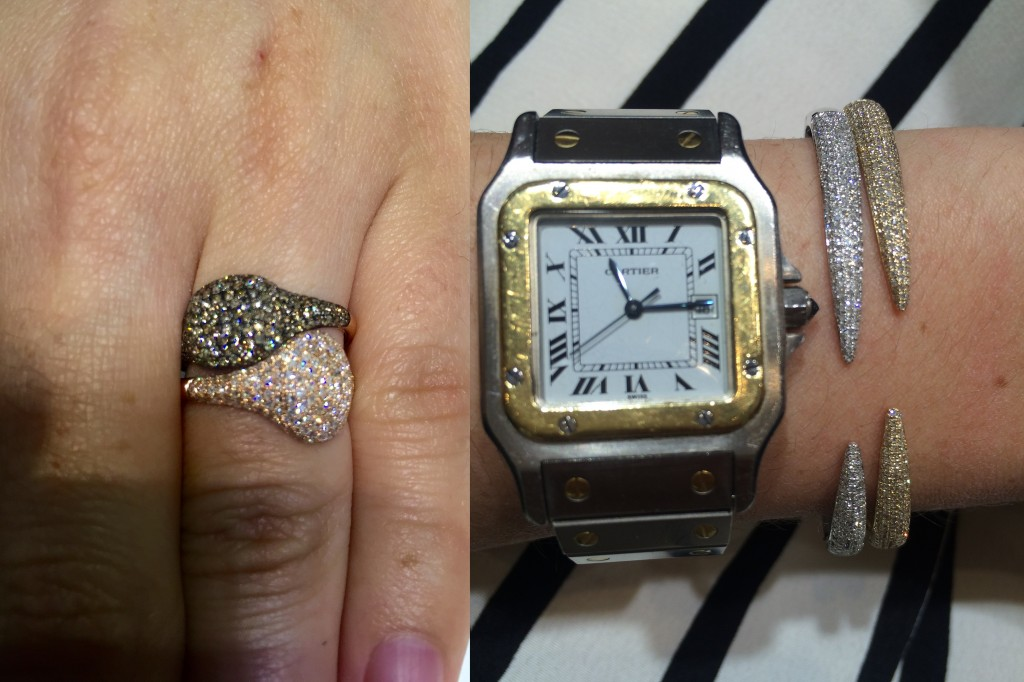 Stacking pave diamond rings and open diamond bangles will be big in 2015!